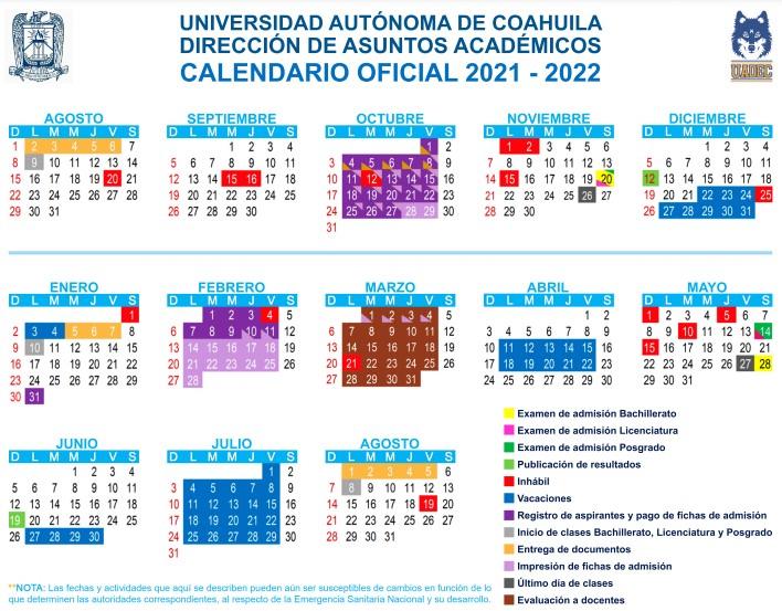 Calendario UAdeC